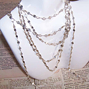 """Interesting Italian STERLING SILVER 68"""" Chain Necklace!"""