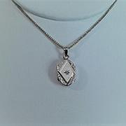 ANTIQUE VICTORIAN 14K Gold & Diamond Locket - Lovingly Engraved!
