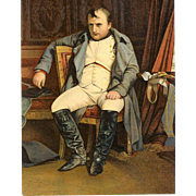 Vintage Postcard - Napoleon Bonaparte in Fontainebleu by Paul Delacroix!