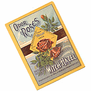 Vintage Paper Label - Odor Roses, Diamond Extract of With Hazel!