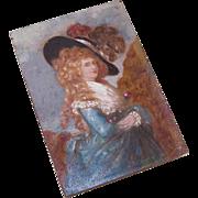 Handpainted C.1900 Oil on Board - Georgiana, Duchess of Devonshire!