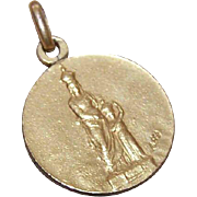 Dtd 1911 FRENCH Gold Filled Pendant/Medal - Saint Anne & the Infant Mary!