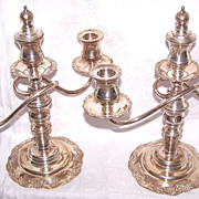 "Wonderful Pair of C.1920 ""Break A Part"" STERLING SILVER Candlesticks!"
