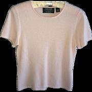Vintage Pink Short Sleeve Pink Cashmere Sweater