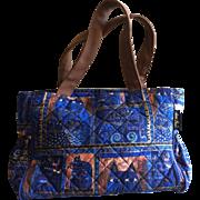 Vintage Laurel Burch Quilted Cat Handbag