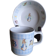 Wedgwood Peter Rabbit childs cup and bowl