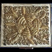Vintage zardozi goldwork Schildkraut cigarette case