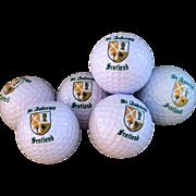 Vintage Canister of 6 St Andrews Scotland Golf Balls