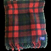 Vintage 1970s Tartan Plaid Pendleton Throw Blanket