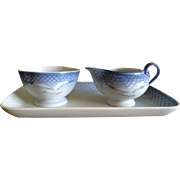 Vintage Seagull Mini Cream and Sugar with Tray by Bing  Grondahl