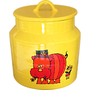 1960s Haeger Potteries Hippopotamus Cooking Jar