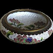 1950s Small Cloisonne Flower Bowl
