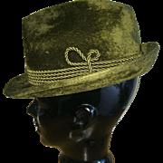Vintage Fuzzy Fur Felt Trachtenhaus Golimbeck Edelweiss Hut Formal Alpine Hat