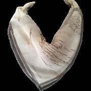 Vintage silk chiffon Anne Klein Abstract beach scarf