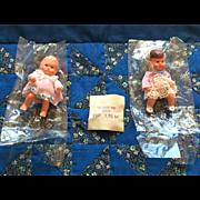 Vintage Dollhouse Babies on a Handmade Quilt