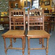 Pair of Henri II Chairs
