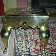SALE Antique Brass Stepping Stool From France