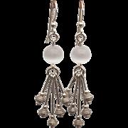 Naevia - Sterling silver Moonstone earrings