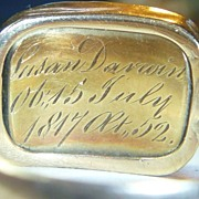 SALE PENDING Antique Georgian Gold Mourning Ring for Charles Darwins Mother