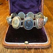 SOLD Antique Lava Cameo Bracelet