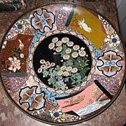 SALE PENDING Fine Antique Meiji Era Cloisonne Charger