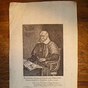 SOLD Antique 17th Century Copper Plate Engraving