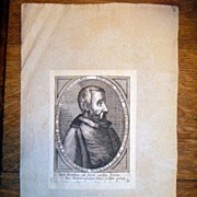 SOLD Antique 16th Century Copper Plate Engraving