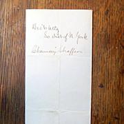 SOLD Antique Letter to Abraham Lincoln from John Slingerland