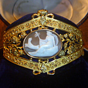 SOLD Antique Gilt Cameo Bracelet