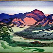 SALE Watercolor by  Erle Loran