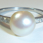 SOLD Antique Natural Saltwater Pearl Ring
