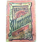 SALE Antique 1888 Hazeltines Pocket Almanac