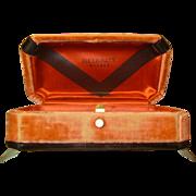 SALE Vintage Art Deco Velvet Watch Box