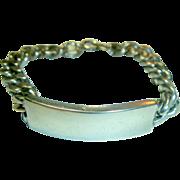 Vintage Sterling Silver I D Bracelet