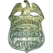 Antique U S Census Badge