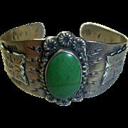 Vintage Navajo Sterling & Turquoise Bracelet