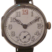 SALE World War One Period Swiss Silver Wrist Watch