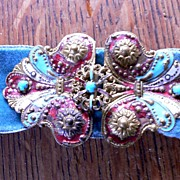 SOLD Antique French Enamel Buckle