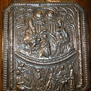 SOLD Antique Sterling Silver Plaque