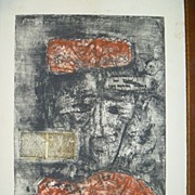 SALE Etching with Aquatint   by Zwy Milshtein