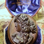 SOLD Antique Vulcanite Brooch