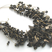 Cool Collar  Wooden Beads and Free Form Shapes!