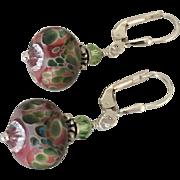 SALE Desert Rose - Color Shifting Boro Glass Lampwork Beaded, Swarovski Crystal, Sterling ...
