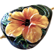 SALE One-Of-A-Kind - Golden Dimensional Floral (Forever Blooming), Italian Moretti Glass Lampw