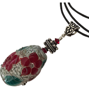 SOLD Gorgeous and Stunning ! One-Of-A-Kind - Italian Moretti Glass, Artisan Lampwork Focal Pen
