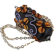 SALE One-Of-A-Kind - Forever Blooming, Italian Moretti Glass Lampwork Floral Artisan Focal - S