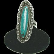 SALE Native American Chrysocolla Ring
