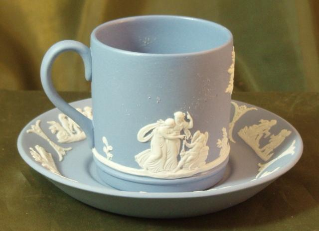 Blue Wedgewood Cup And Saucer 112