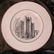 SOLD Copeland Spode Souvenir Plate - The Detroit Masonic Temple