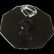 Black Glass Tidbit Tray in Octagon Shape